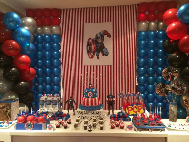 Captain America Birthday Party Ideas | Photo 32 of 32 | Catch My Party