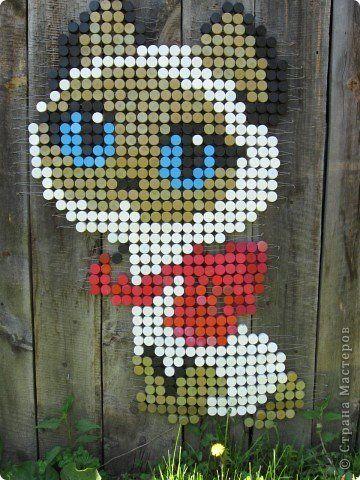 Картина панно рисунок Мозаика Панно из пробок Материал бросовый фото 2