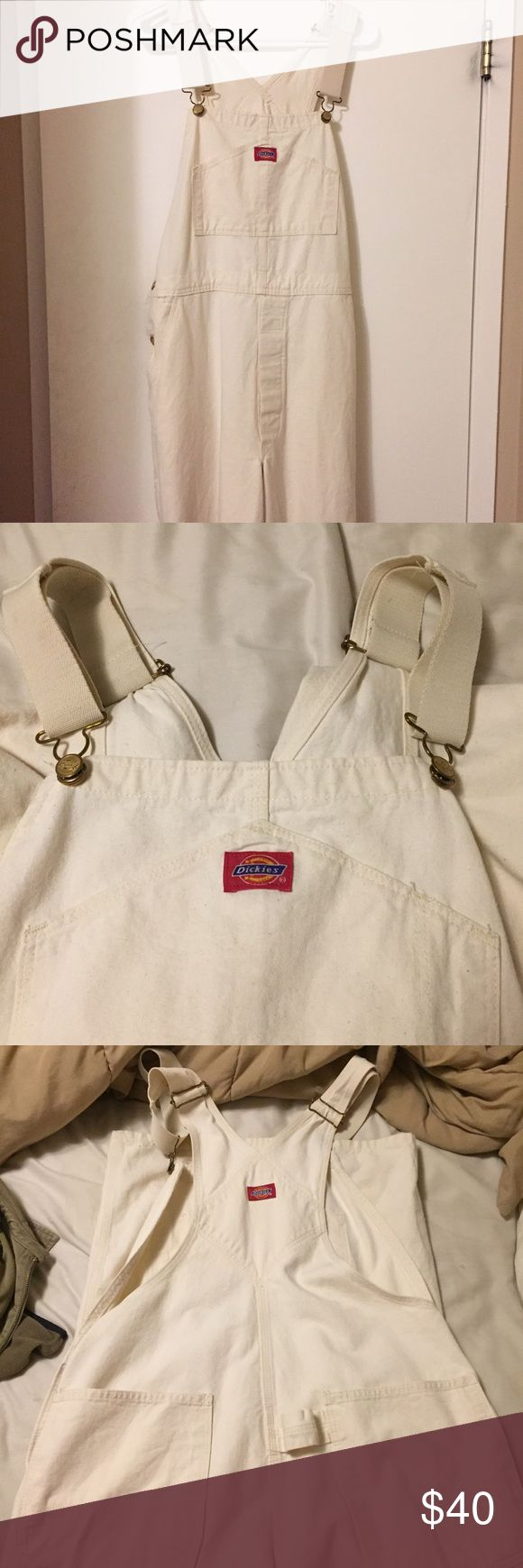 Clean flawless Off white dickies painter overalls! Off white cream dickies overalls. Beautiful details. Size 36 but fits me nice and I'm a 30. Just a little baggy. Dickies Other