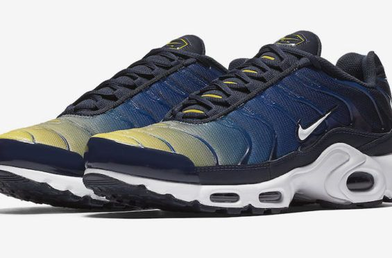 89223e3c580e Nike Air Max Plus Gradient Navy Yellow Coming Soon A gradient Nike Air Max  Plus is