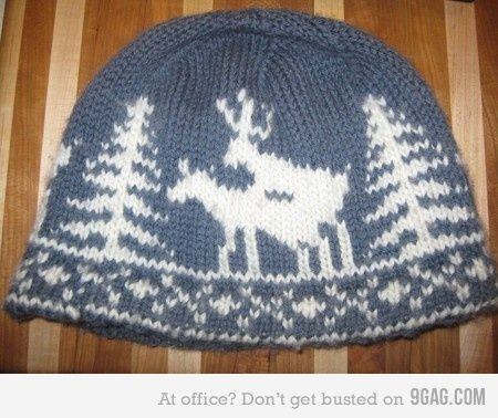 Naughty Christmas knitted hat--Made you look twice eh?!