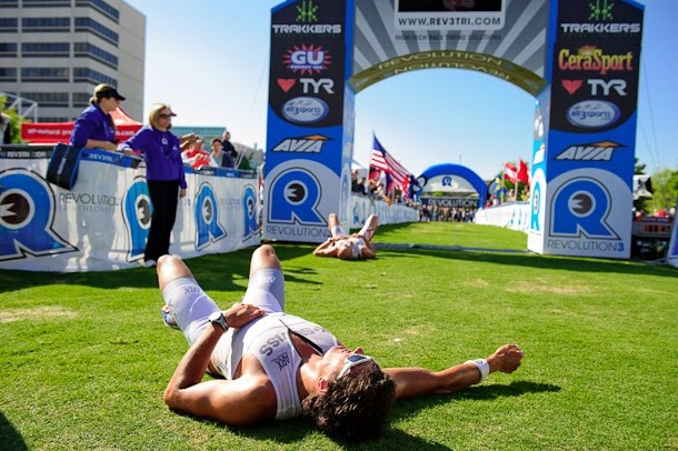Terenzo Bozzone - one of the best finishes ever. No, you can do Triathlons and walk away from the finish line, but these pros use everything on the course!