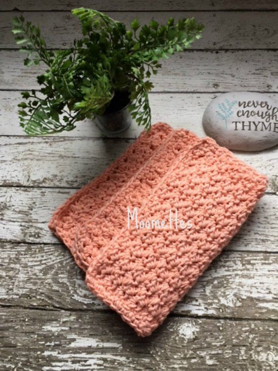 Handmade Dishcloths Cotton Dish Cloths Kitchen Cleaning Cloth