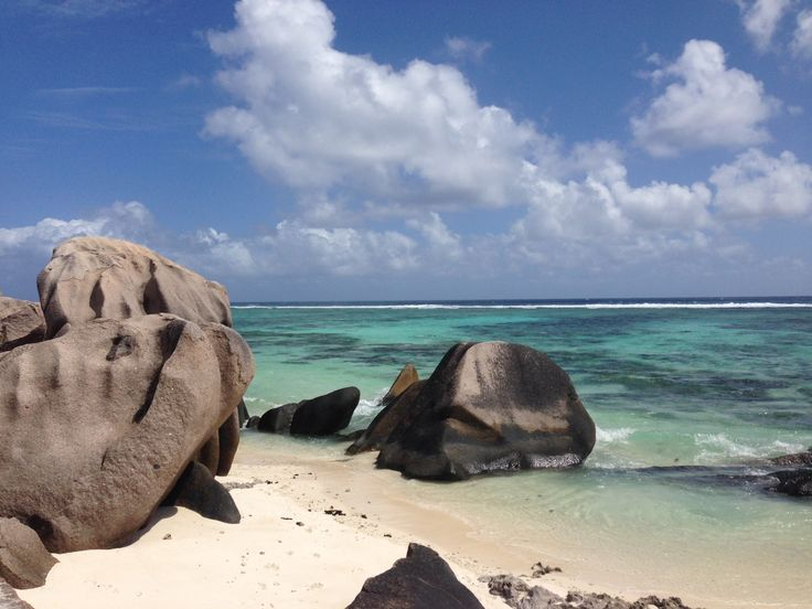 Granite stones on the coast of Mahe