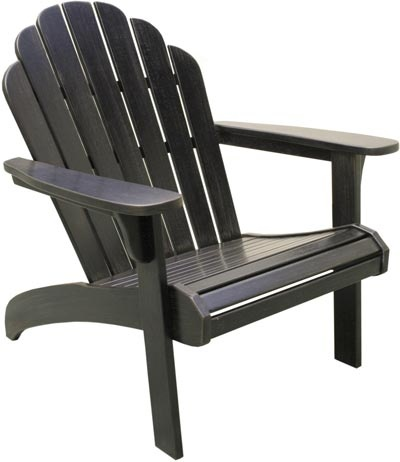New River Old Forge Adirondack Weathered Black 499 Outdoor Furniture In 2019 Balcony Chairs Outside