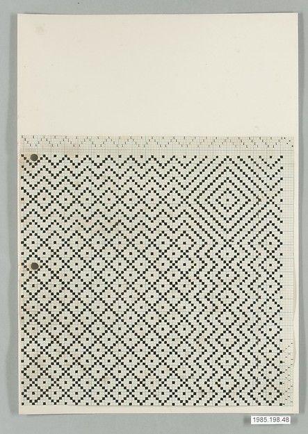 BAUHAUS ARCHIVE Designer: Gertrud Preiswerk (German (born Swiss), Basel 1902–1994) Classification: Textiles-Sample Books Credit Line: Gift of Jack Lenor Larsen Incorporated, 1985 Accession Number: 1985.198.48