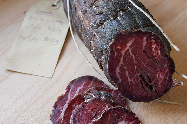 Home made Bresaola-the beef version of Prosciutto. Made with filet mignon.