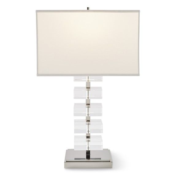 Stacked Crystal Table Lamp Polished Nickel Williams Sonoma Table Lamp Lamp Crystal Table Lamps