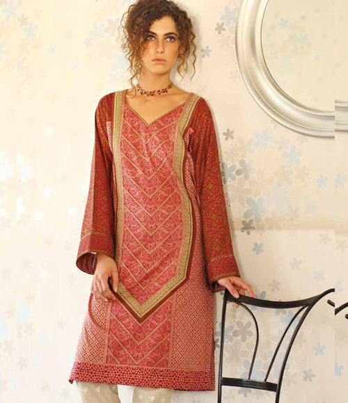 Orient Embroidered Lawn Kurti Collection 2015 OTL_112A