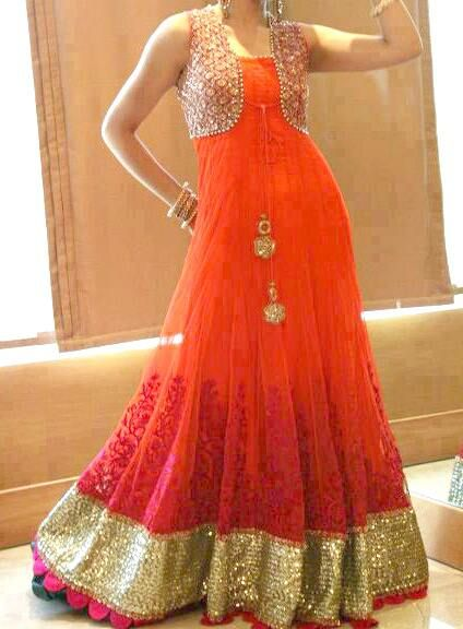 different floor length anarkali