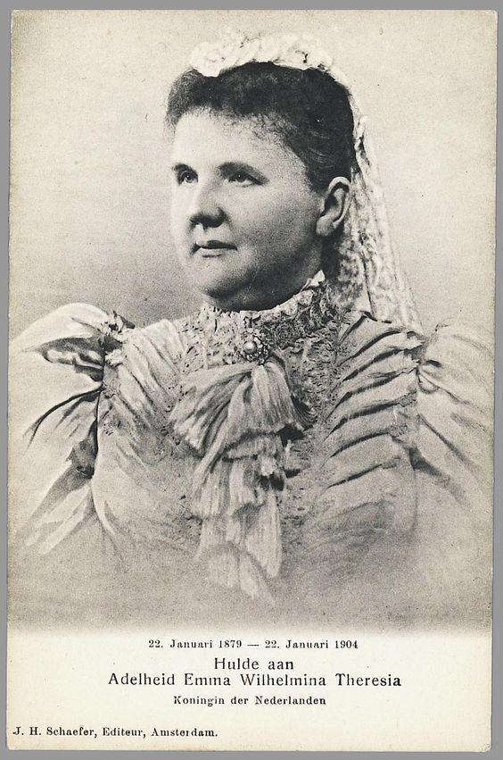 Koningin Emma, overleden 1904