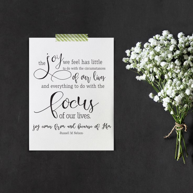 The Joy we feel has little to do with the circumstances in your life and everything to do with your focus Digital Print Russell M. Nelson by thewildberryroad on Etsy https://www.etsy.com/listing/482810221/the-joy-we-feel-has-little-to-do-with