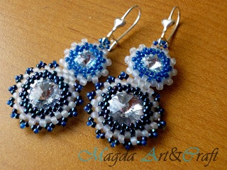 Swarovski earrings    Facebook: Magda Art