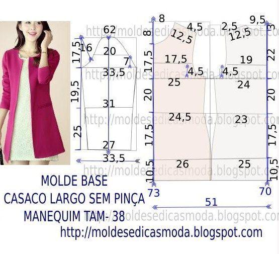MOLDE CASACO: