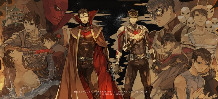 Jason Todd  Dick grayson THE LEAGUE OF ASSASSINS  THE COURT OF OWLS  My Most Favorite Picture EVER!!!!!!!!!!!!!!!!!