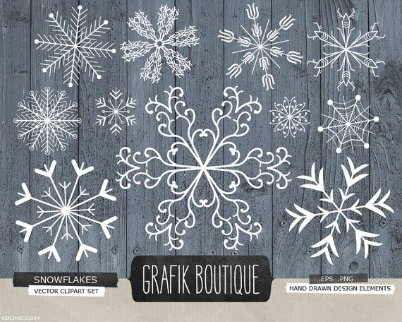 Snowflakes christmas decoration rustic background vector clipart, diy season's greetings – Janine Draht
