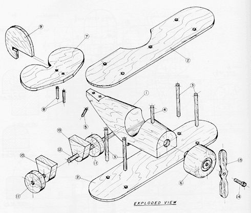 toy plane plans | Toy Airplane Free Project Plan