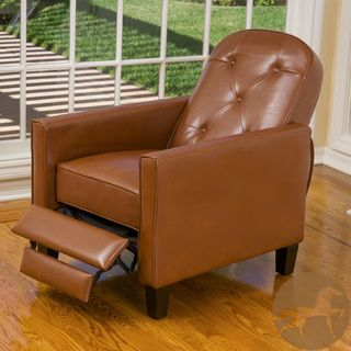 christopher knight home johnstown tufted hazelnut leather recliner shopping big discounts - Small Leather Recliners