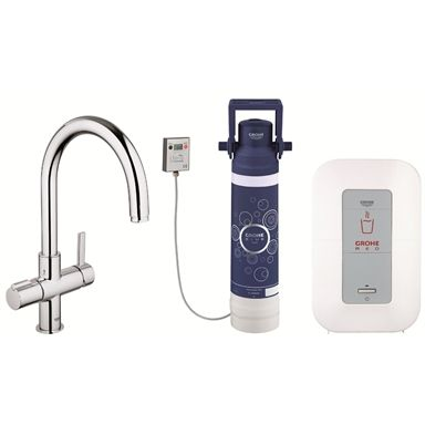 GROHE Red C-Spout Kitchen Tap