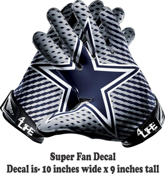 00445 Dallas Cowboys Gloves Vinyl Decal by SportsDecals4You