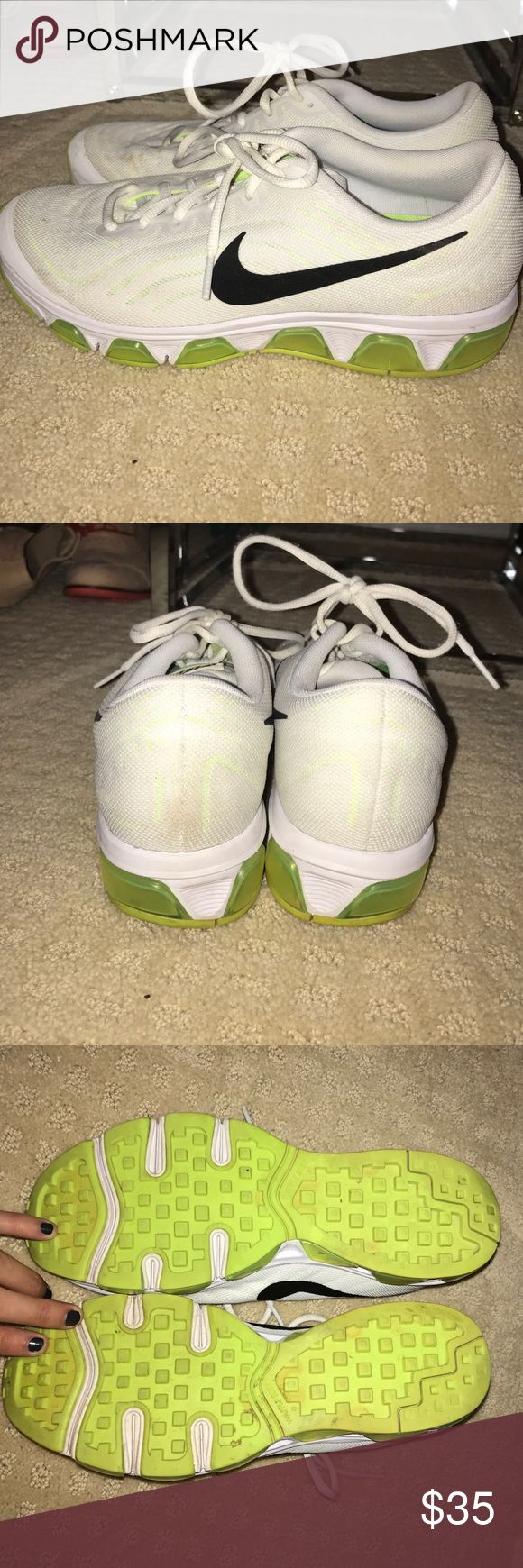 Nike Air Tailwind 6 Size 9. Worn a few times, but are in good condition. There are a couple brown spots on the right shoe. I have not tried to remove the stain, but i'm sure it would come off easily if washed! Super comfy! Nike Shoes Sneakers