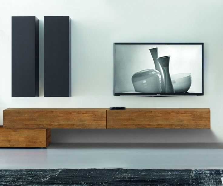 Design Tv Möbel Lowboard Sideboard Hängend Originelles Design Massivholz | Bank