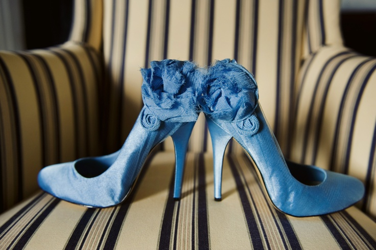 Fun idea - Vintage style blue wedding shoes as your something blue!    Gorgeous photo by Swank Photo Studio | http://brds.vu/yGfObg via @BridesView #wedding #photography