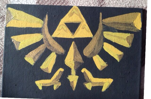 One of my first paintings. Zelda triforce symbol.