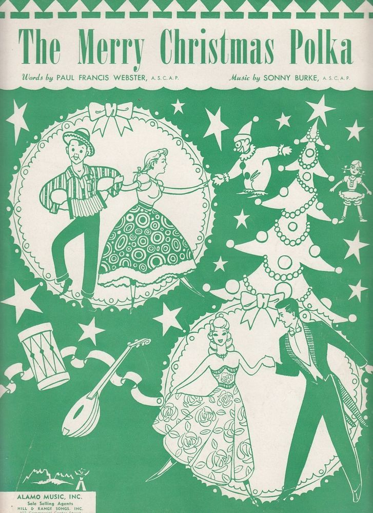 The Merry Christmas Polka 1949 Sheet Music Sonny Burke Paul Francis Webster