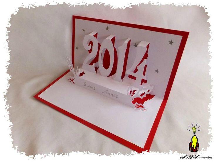 ARTicle kirigami gratuit : bonne année 2014