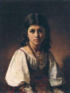 Alexei Alexeievich Harlamoff - Portrait of a Gypsy Girl