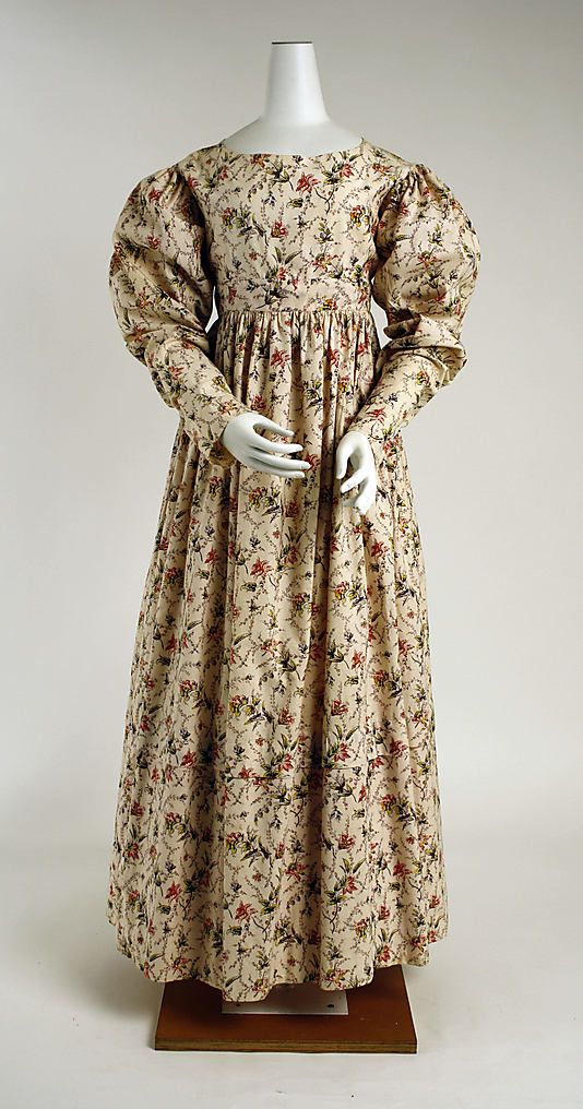 Mid-1820s British Morning dress at the Metropolitan Museum of Art, New York
