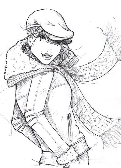 Fall fashion illustration - TomBoy Girl