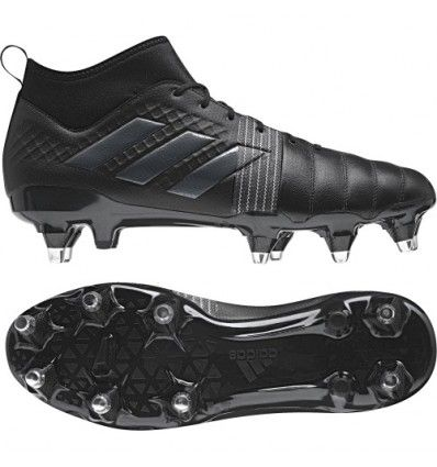 Fenton Rugby Online; Adidas Kakari Force SG Rugby Boot - Core Black - traction and support for the tight five.