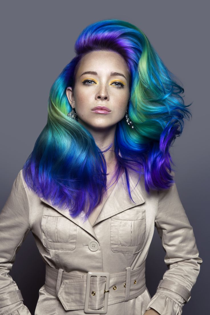 """Erica Keelen created her entry using ChromaSilk Crème Hair Color and Vivids drawing inspiration from Van Gogh's """"Starry Night"""". Pravana's Artistic Color Director Vadre Grigsby said for Keelen's technique, the """"color combination required different levels of lift to achieve the vibrancy. The pre-Vivids application work was done perfectly."""" Keelen's creative color placement, polished styling and stunning overall effect embodied the spirit of the contest, bringing home her first place ..."""