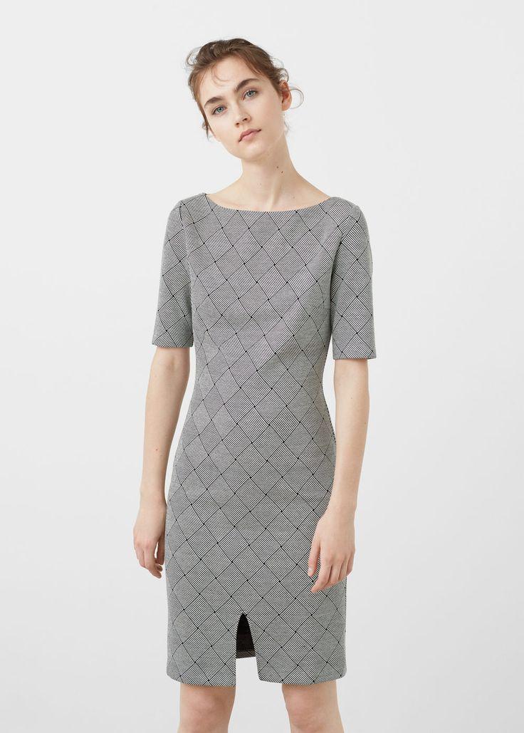 Robe coton imprimée | MANGO
