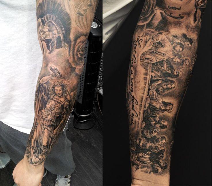 Best 25 christian sleeve tattoo ideas on pinterest for Fake tattoo sleeves toronto
