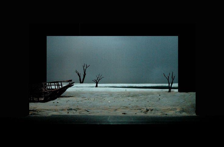 Claire de Lune: Photos de Maquette de scénographie, La Nouvelle Atlantide, conception d'un projet fictif avec Jean-François Peyret