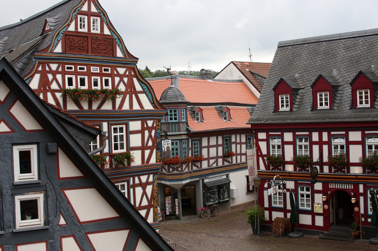 Idstein, Germany - our old downtown.  Ice Cream shop nearby!