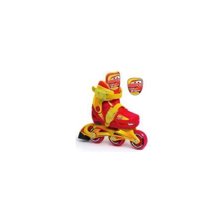 """- Роликовые коньки с пластиковой рамой, Тачки  — 2199р. -------- Удобные детские раздвижные ролики Тачки (Cars) идеально подходят для комфортного и безопасного катания Вашего ребенка. Их вполне могут использовать как малыши, которые только учатся роликовому спорту, так и дети постарше. Ролики выполнены в стиле популярного диснеевского мультфильма """"Тачки"""" (""""Cars"""") и украшены изображением главного персонажа Молнии МакКуина.  Жесткий ботинок со съемным внутренним сапожком обеспечивает удобство…"""