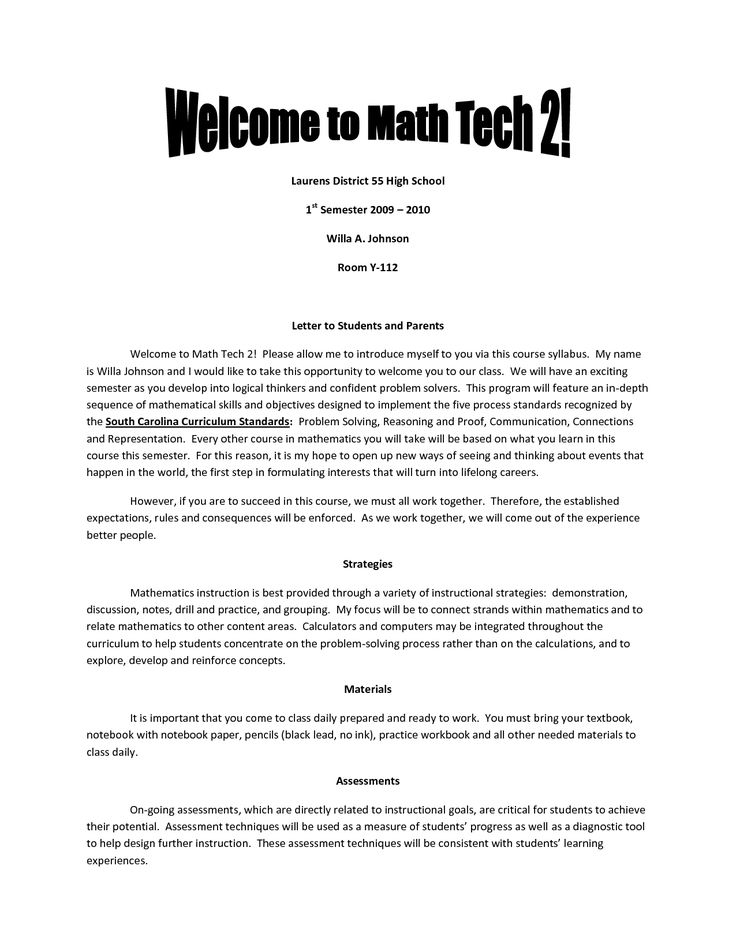 Best 25+ Teacher Introduction Letter Ideas On Pinterest | Teacher