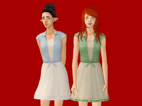 Sims 2 red dress petite