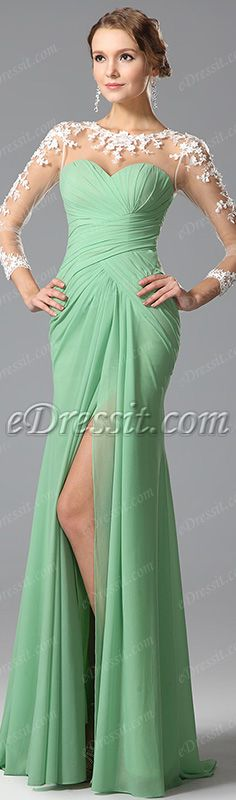 Lace top with flowing skirt! #edressit #dress #fashion #gown