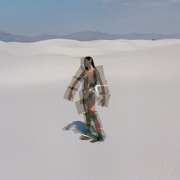 Synchrodogs #photography #conceptual #modern #contemporary #art #woman #beauty #girl #naked #nude #sand #dune