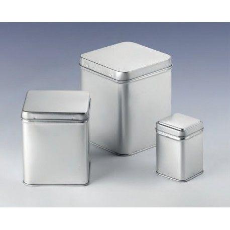 Kovová dóza na skladovanie potravín. Medzi potraviny, ktorú môžu byť skladované v týchto dózach je najvhodnejší čaj a káva.