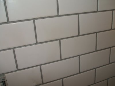 White Subway Tile With Gray Grout Hmm Maybe Better Than