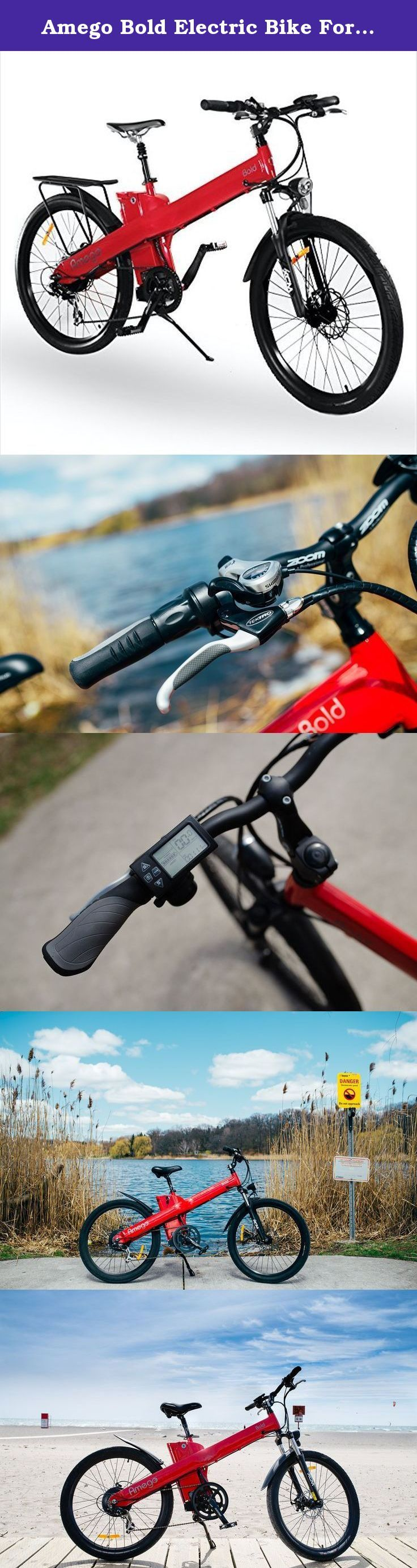 Amego Bold Electric Bike For Adults | Great For Men & Women | 500W of Power | Up To 25MPH Top Speed and 70 Mile Range | 1 Year Warranty (Ferrari Red). What we love about this electric bike is it has a 52 tooth crank wheel that allows you to use your full muscular power above the Bolds motor power. This can give you speeds up to 45 km/h depending on your efforts. The Bold electric bicycles allows you to pedal as hard as you like, travel far distances with a range up to 110kms, and have the...
