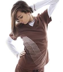New Balance Scrubs: Tops | 116-On Call Flow Print top | New Balance Nursing Uniforms | New Balance Fashion Scrubs and Medical Apparel