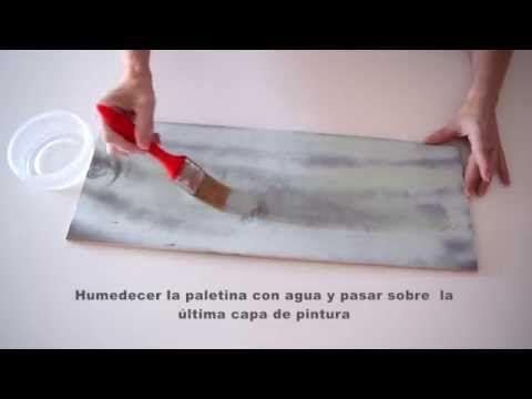 Videotutorial: cómo hacer un efecto decapado con pintura pizarra sin lijar | Bricolaje