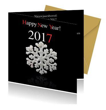 Zelf nieuwjaarskaarten maken. Een mooie uitnodiging voor een nieuwjaarsreceptie.